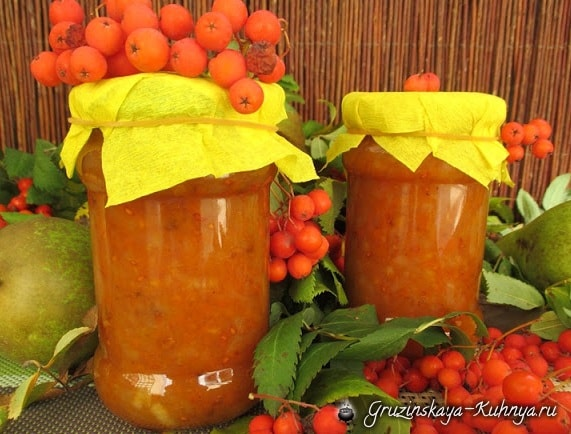 Джем из рябины с яблоками и грушами (4)