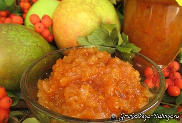 Джем из рябины с яблоками и грушами (5)