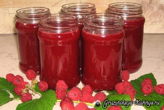 Малиновый сок - рецепт заготовки на зиму