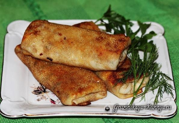Блинчики с мясом по-грузински