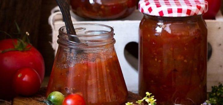 Томатный соус с яблоками и изюмом