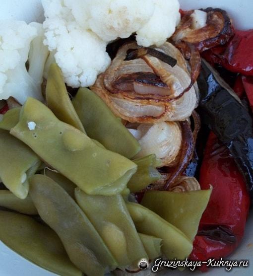 Сациви из овощей. Грузинский пошаговый рецепт