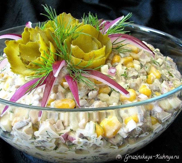 Праздничный грибной салат (2)