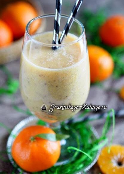 Зимний коктейль из мандаринов с семенами чиа (1)