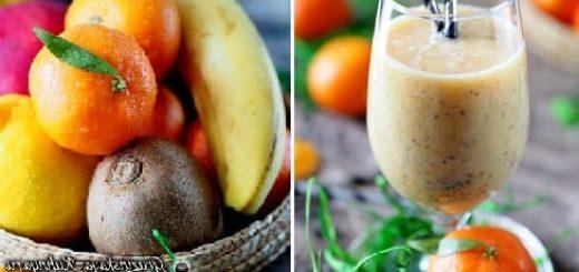 Зимний коктейль из мандаринов с семенами чиа