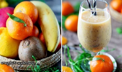 Зимний коктейль из мандаринов с семенами чиа (3)
