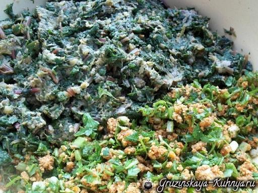 Пхали из свекольных листьев с орехами (10)