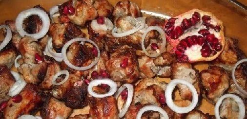 Шашлык из свинины с гранатом и аджикой (10)