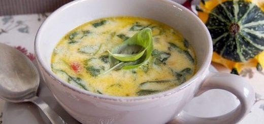 Сливочный куриный суп со шпинатом и сыром (3)