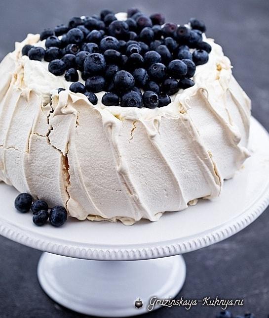 Торт Павлова с ягодами. Рецепт (3)