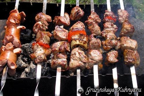 Шашлык из свинины с красным луком (2)