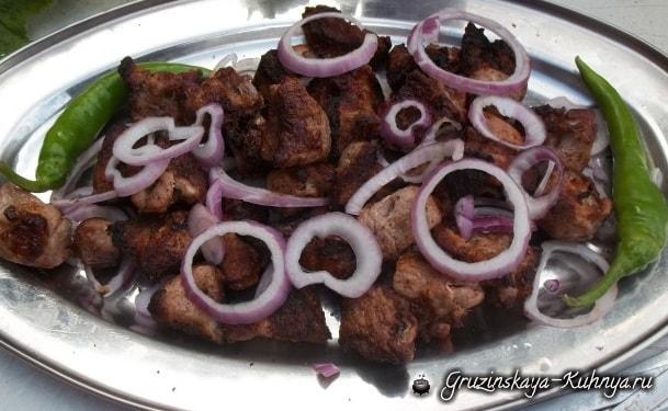 Шашлык из свинины с красным луком (3)