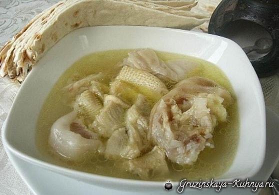Суп хаши из бараньих или говяжьих рубцов и ножек (2)