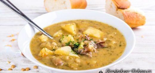 Суп из баранины с горохом