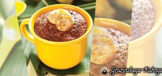 Банановый шоколадный кекс в кружке (1)