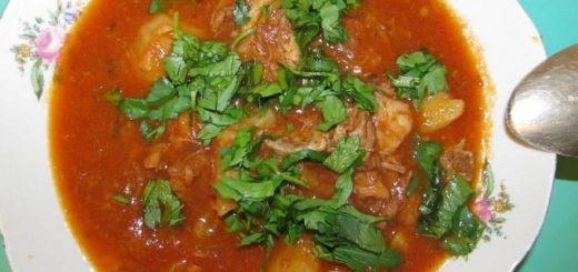 Соус из говядины с картошкой по-грузински (4)