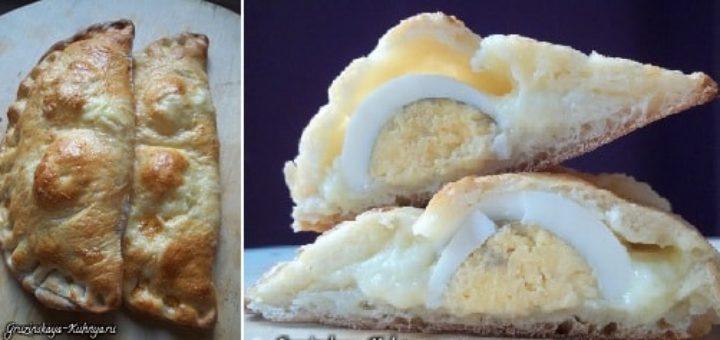 Гурийские хачапури с сыром и вареными яйцами (10)
