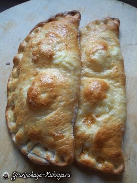 Гурийские хачапури с сыром и вареными яйцами (9)
