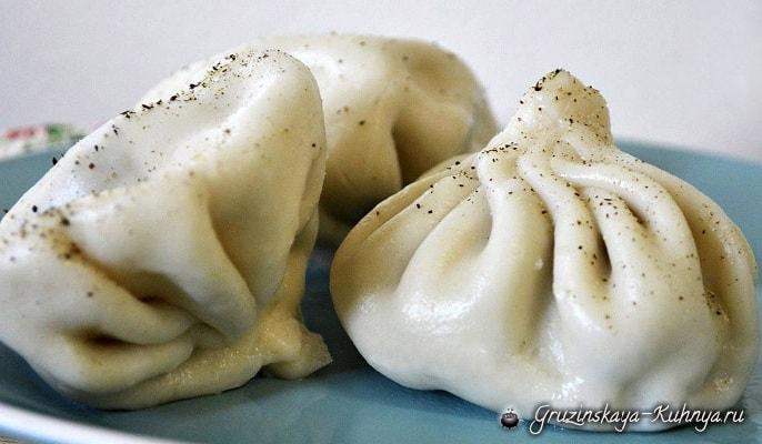 Хинкали с грибами по-грузински (4)