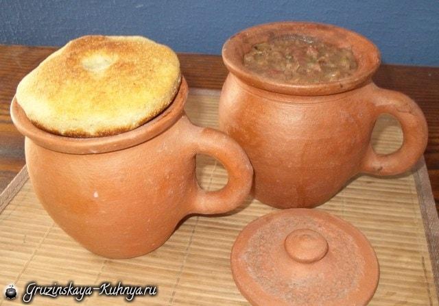 Лобио в горшочках - грузинское блюдо из фасоли (5)