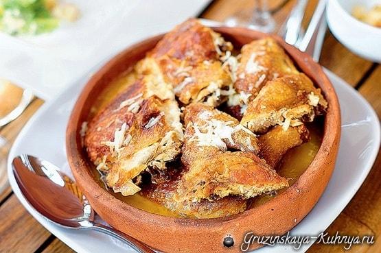 Рачинский шкмерули - грузинское блюдо из курицы (1)