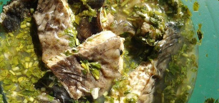 Рыба в киндзмари. Рецепт