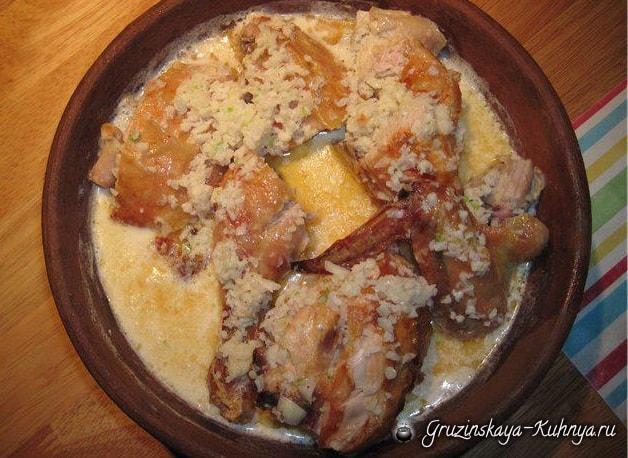 рецепт тушеной курицы с картошкой на плите