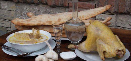 Куриный суп с ткемали - альтернатива чихиртме