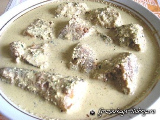 Сациви из рыбы. Грузинский рецепт (2)