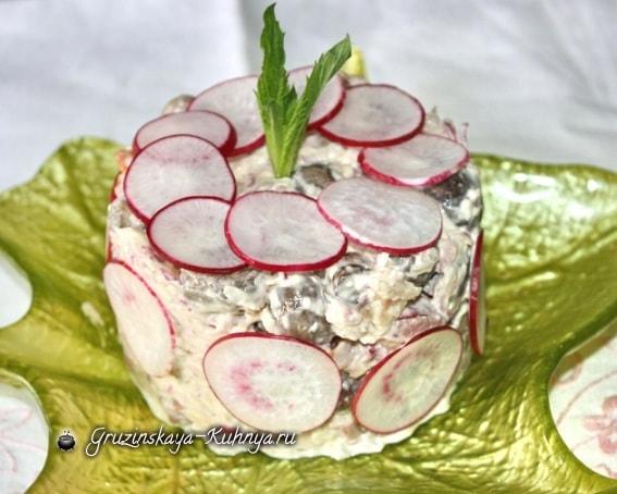 Салат из языка с шампиньонами (2)