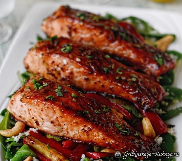 Карамелизированный лосось. Рецепт карамельного соуса (2)