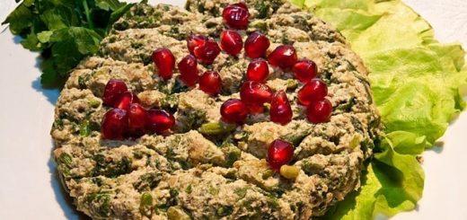 Зеленое лобио с орехами