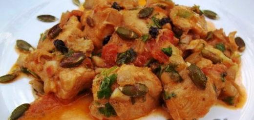 Чашушули из курицы с тыквенными семечками (6)