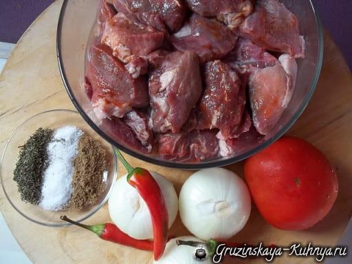 Чашушули из свинины с кондари (1)
