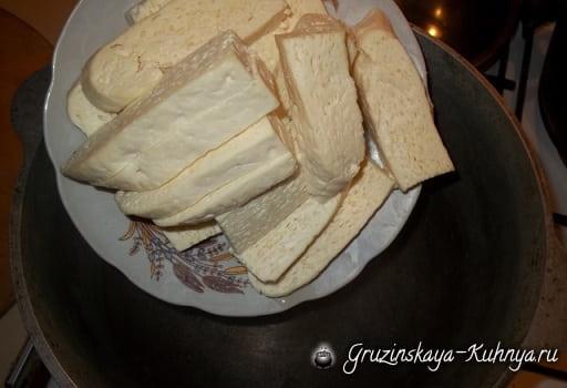 Гебжалия из сыра с творогом (2)