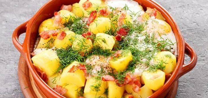 Молодой картофель с беконом и яйцами (1)
