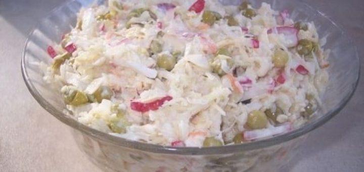 Салат из квашеной капусты с редисом и огурцами