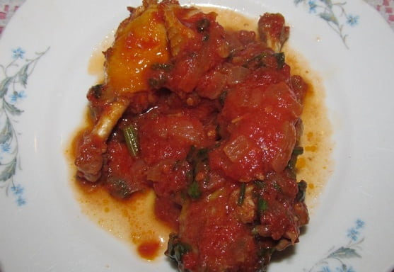 Чахохбили из фазана. Пошаговый рецепт (4)