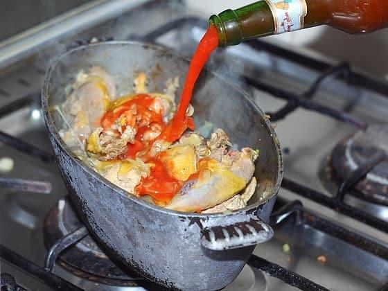Чахохбили из фазана. Пошаговый рецепт (7)