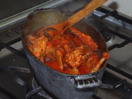 Чахохбили из фазана. Пошаговый рецепт (8)