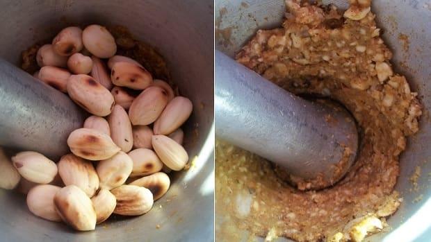 Жареная курица с пряным ореховым соусом из фундука (2)