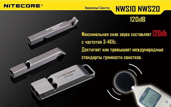Свисток из титанового сплава Nitecore NWS20 (2)