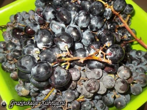 Джем из черного винограда по-грузински (5)