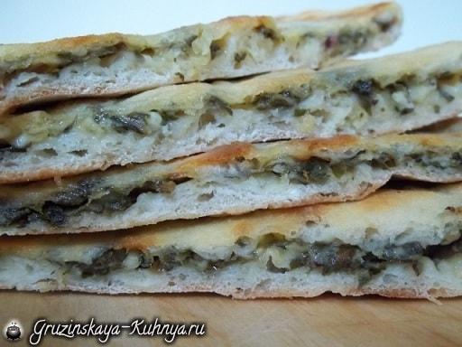 Хачапури с сыром и свекольными листьями (2)