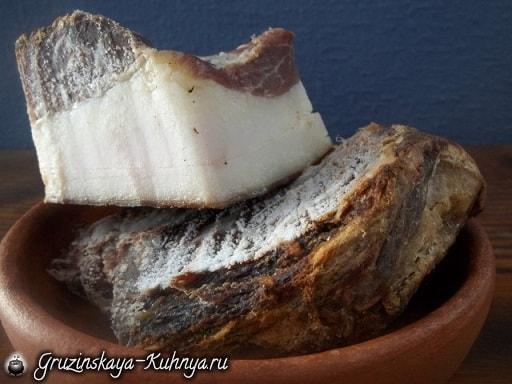 Рецепт лобио с копченым салом (4)