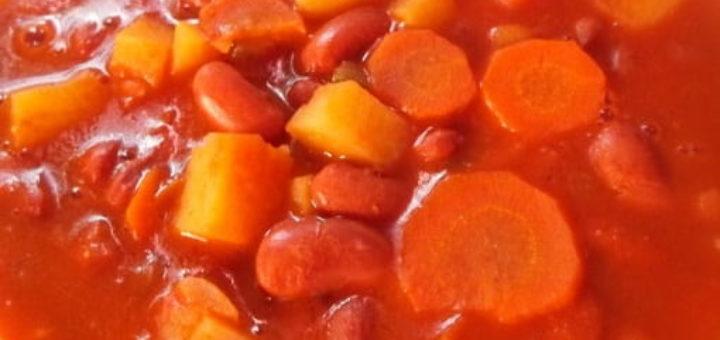 Суп лобио с овощами и специями (3)