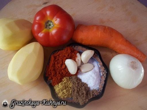 Суп лобио с овощами и специями (5)