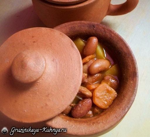 Суп лобио с овощами и специями (7)