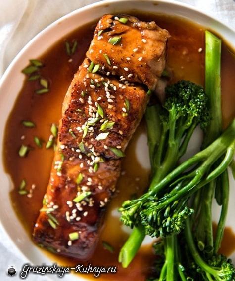 Медовый лосось. Рецепт (2)
