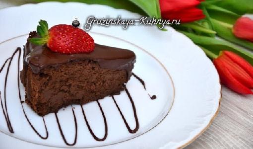 Диетический шоколадный торт. Рецепт по Монтиньяку (1)